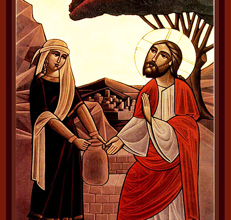 Woman at the Well Coptic Icon