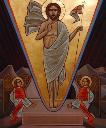 Coptic Icon Resurrection Rene